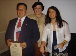 El Presidente Carrillo con su esposa Consuelo y su hija Andrea.