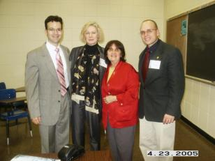 Israel Rolón Barada, Roberta Johnson, Marie-Lise Gazarian (Vicepresidenta del Este) y Mark P. Del Mastro.